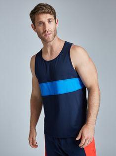 Shape Of Your Body, Sport Wear, Signature Logo, Mesh Fabric, Mens Fitness, Bold Colors, Tank Man, Menswear, Mens Fashion