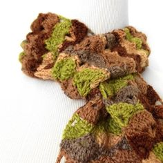 Summer Crochet Scarf Open Fan Spring Scarf by PurpleKissCompany, $49.99