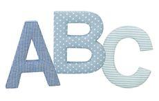 Kids Concept ABC-bokstäver Blå 3-pack