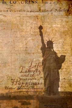 The United Freedom Group is dedicated to educating and organizing the millions of Americans who wish to see our country returned to its founding principles as set forth in the Declaration of Independence and the U. I Love America, God Bless America, America America, Declaration Of Independence, Happy Independence Day, Thomas Jefferson, Liberty Statue, Independance Day, Retro Poster