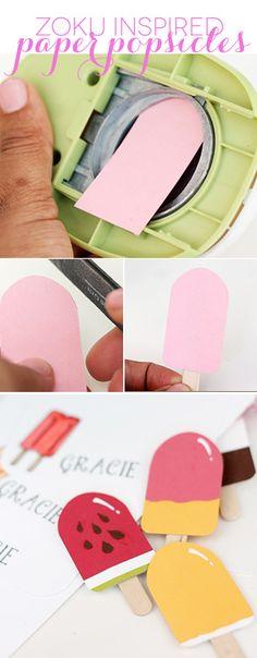 Easy DIY Paper Popsicles | Damask Love