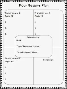 I love that this planning sheet includes a space for transition words! I would have students use this when they are developing their skills in expository writing. Work On Writing, Writing Classes, Writing Lessons, Teaching Writing, Writing Skills, Writing Ideas, Writing Workshop, Writing Test, Writing Activities