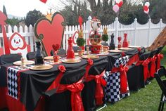 Queen of Hearts/Alice in Wonderland Birthday Party Ideas | Photo 2 of 7