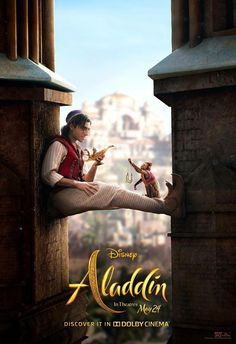 Want to make your wishes come true just like Aladdin? Check out our awesome 2019 live-action movie Aladdin poster collection. Aladdin Film, Watch Aladdin, Naomi Scott, Disney Live, Pixar, Disney Films, Disney Movie Posters, Adventure Time Anime, Fun Adventure
