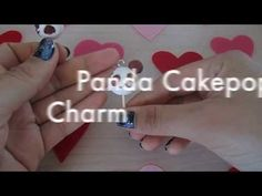 Panda Cake pop clay charm :)  Here's another easy tutorial!!! I hope you guys like it...