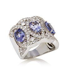 Jean Dousset 5.24ct Absolute™ and Tanzanite Wide Ring