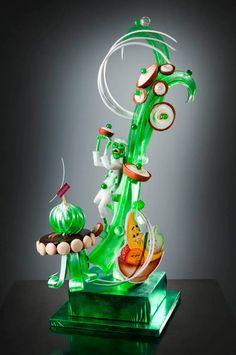 David Malizia Blown Sugar Art, Pulled Sugar Art, Kai Arts, Patisserie Design, Cupcake Cakes, Cupcakes, Food Sculpture, Creative Food Art, Isomalt