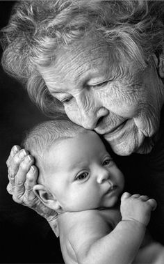 "Great photo idea of ""Generations"" for a mother or grandmother."