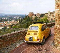 Regilla ⚜ Certaldo, Tuscany, Italy #fiat500