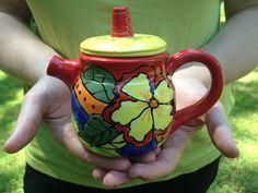 Teapot - Beautiful Hand-painted, Handmade Ceramic Teapot. $42.00, via Etsy.