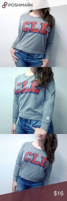 7cd96f4b09c8ae CLE CLOTHING CO Cleveland Indians Sweatshirt CLE CLOTHING CO. Cotton blend  waist length sweatshirt.