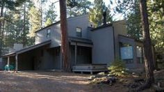 Black Butte Ranch, OR: This multi-level central Oregon vacation rental features a wood burning stove for cozy comfort on a cold day, There is a TV/VCR and stereo for your en...
