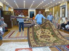 "Turkish rugs Kusadasi Turkey ... going to look at rugs was a pretty ""interesting"" event!  They serve you tea while they are showing you rugs and I have heard that unless you plan to truly buy one, never accept the second cup!"