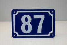 VINTAGE Enamel House Number made by Garnier by artisanetvintage, $29.00