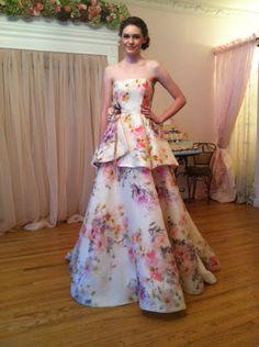 A beautiful floral wedding gown by Randi Rahm - so pretty! #Fall2013 #WeddingDress