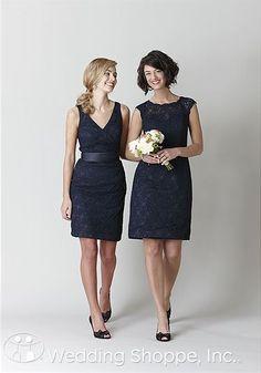 Stunning lace bridesmaid dresses! #KennedyBlue