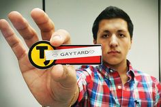 """16 year old Tyler Brandt's supervisor created and required him to wear a name tag labeled """"GAYTARD"""" while he worked at a Taco John's restaurant in Yankton, South Dakota. Taco John's, Injustices In The World, Workplace Bullying, Lgbt News, We Are All Human, Anti Bullying, Name Tags, 16 Year Old, South Dakota"""