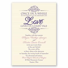 fairy tale wedding invitation wording from wwwinvitationsbydawncom
