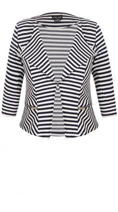 cda97be43159e Shop Women s Plus Size Women s Plus Size Stripe Zip Blazer Jacket