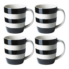 Set of 4 mugs, 12oz /34cl - Cornishware® – Classic British Kitchenware by T.G. Green