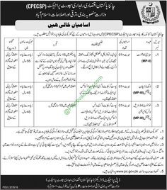 Various Engineer,MBA Jobs In CPECSP China Pakistan Economic Corridor Support Project