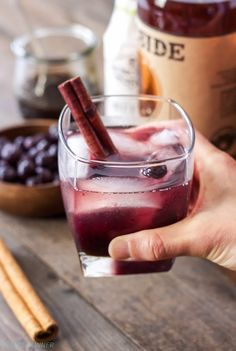 Give your old fashioned cocktail a holiday twist by adding blueberries and a sweet cinnamon simple syrup! Happy Hour, Tequila, Highbush Blueberry, Whiskey Cocktails, Old Fashioned Recipes, Blueberry Recipes, Old Fashioned Cocktail, Yummy Drinks, Cold Drinks