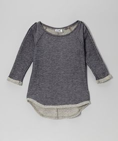 Love this Navy & Gray Terry Raglan Tee - Girls on #zulily! #zulilyfinds 18.00