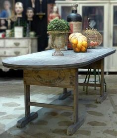 Rustic vintage french farmhouse table kitchen dining room modern classic fast delivery