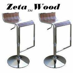 Modern Style Adjustable Wooden Bar Stools - Walnut (Set of 2) by Modern Bar Stools. $109.95. Save 63% Off!