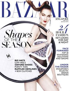 awesome Harper\'s Bazaar Singapura | Capa e Editorial Abril 2013 | Kirsi Pyrhonen e Val Bird