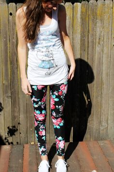 Floral leggings by @StyleLately