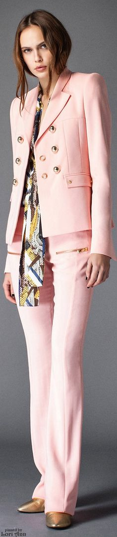 Just Cavalli ~ Pink Pant Suit, Pre-Fall 2015