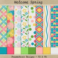 FREE Dreamn4ever Designs: Blog Trains - Welcome Spring