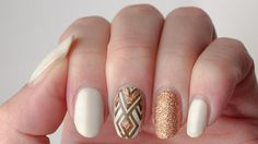Nadia's manicure using fall colors (Barry M Cream Soda, China Glaze I Herd That, Zoya Codie, UberChic The Wild West-02)