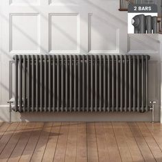 Anthracite Double Panel Horizontal Colosseum Traditional Radiator - Before After DIY Home Appliances, Hallway Decorating, House, Home, Traditional Radiators, New Homes, Living Room Wall Color, Bathroom Radiators, Victorian Living Room