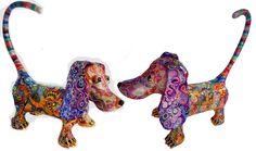 dog meeting Paper Mache Sculpture, Sculptures, Lion Sculpture, Dinosaur Stuffed Animal, Clay, Statue, Dogs, Animals, Art