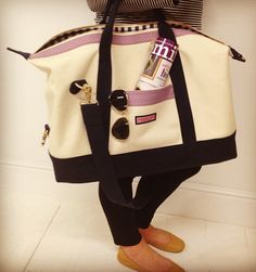 getting outta town with our new Weekender tote!
