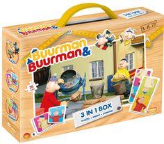 Urenlang speelplezier met een Buurman & Buurman puzzel, Buurman & Buurman domino en Buurman & Buurman memospel, allemaal in 1 handig meeneemkoffertje!   Afmeting: volgt later.. - Spel 3 in 1 Buurman en Buurman: o.a. memory/domino