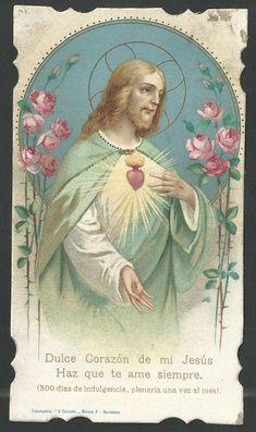 Catholic Pictures, Heart Of Jesus, Catholic Art, Prayer Cards, Jesus Cristo, Sacred Heart, Mystic, Christ, Prayers