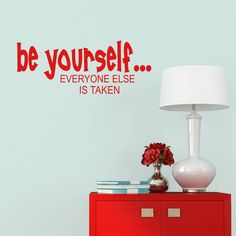Be Yourself Quote Inspirational Wall Sticker