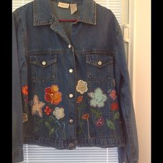 Very cute Country Door embroidery jacket. This jacket is really cute and would be perfect for the Fall. It is 100% Cotton. It may have been wore a couple of times. Country Door Jackets & Coats