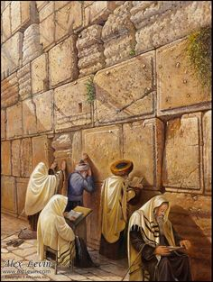 """""""The Power of the Kotel Stones"""" painting by Alex Levin"""