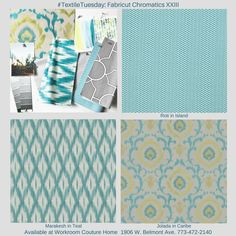 Chromatics XXIII Fabric collection by Fabricut. Available at Workroom Couture Home.