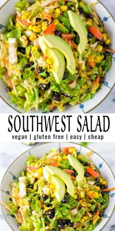 This Southwest Salad is easy to make with simple ingredients that you already have in your pantry. Impressive and naturally vegan.