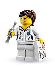 Great Female Lego Figures Nurse/Doctor