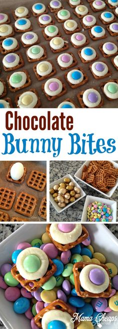 Easy M&M Pretzel Treats for Easter: Bunny Bites!