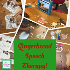 Crazy Speech World: Gingerbread Speech Therapy