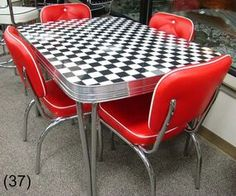 COOL Retro Dinettes | 1950's Style | Canadian Made Chrome Sets Retro Table And Chairs, Retro Kitchen Tables, Retro Dining Rooms, Retro Dining Chairs, Vintage Kitchen, Arm Chairs, Retro Room, Eames Chairs, Retro Art