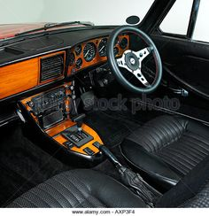Find the perfect triumph stag 1973 stock photo. Huge collection, amazing choice, million high quality, affordable RF and RM images. Car Interior Design, Truck Interior, Triumph Motor, Triumph Car, Bmw E24, Morgan Cars, Triumph Spitfire, Bmw Classic Cars, Bikes For Sale