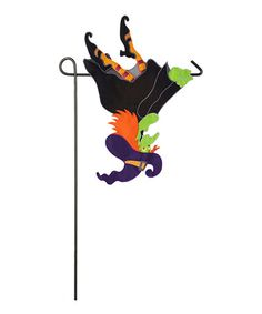 Look what I found on #zulily! Flying Witch Appliqué Outdoor Flag #zulilyfinds